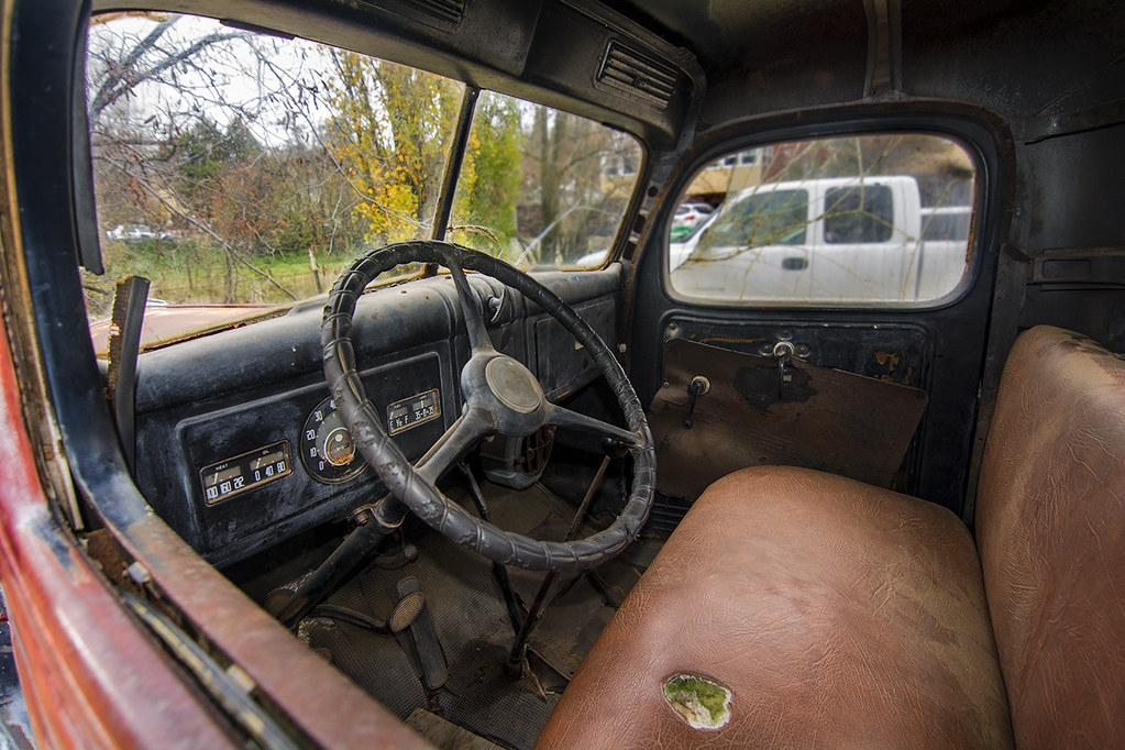Old Chevy Cars >> 1945 Dodge Truck Interior | I saw this old Dodge truck on a … | Flickr