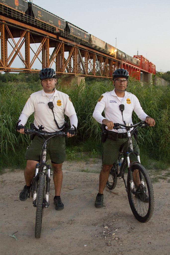 South Texas Border Patrol Agent Laredo Bike Patrol Unit