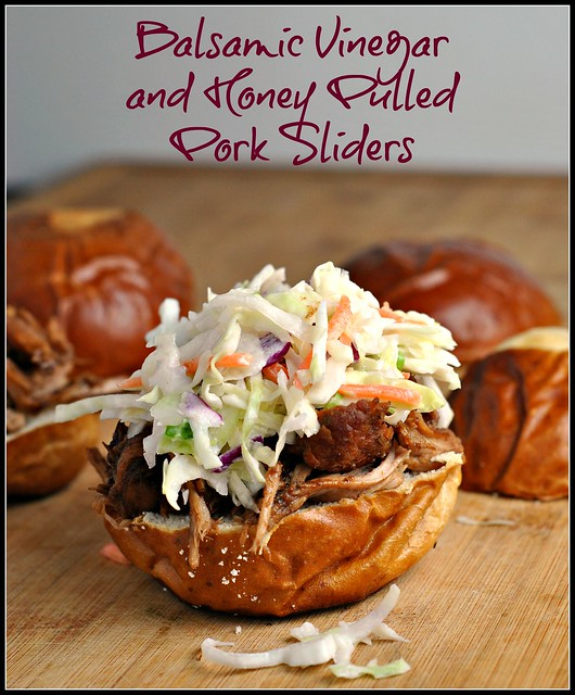 Balsamic Vinegar and Honey Pulled Pork Sliders 1