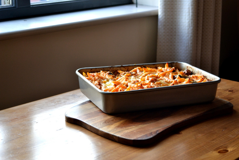 Sausage and Butterbean Pasta Bake