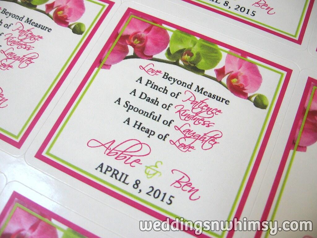 Hot Pink & Green Orchids Custom Wedding Measuring Spoons F… | Flickr