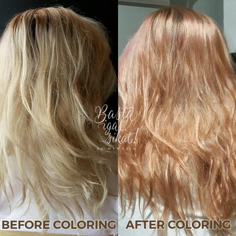 Platinum to Rose Gold hair
