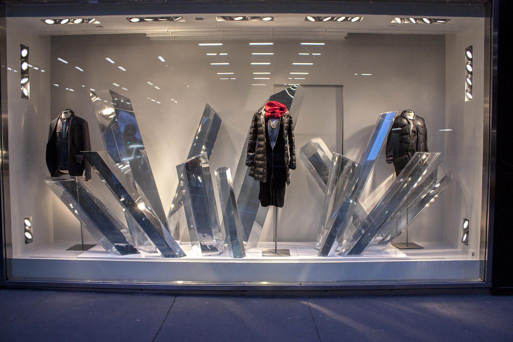 armani exchange window display designs  sculptures and ins