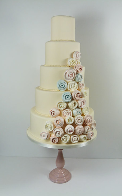 Meringue swirls wedding cake   Flickr - Photo Sharing!