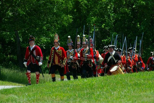 Photo of Reenactors Marching