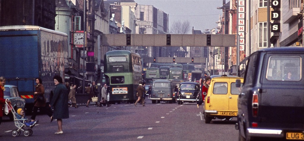 Leeds in the 1970s Lower Briggate Department Stores on
