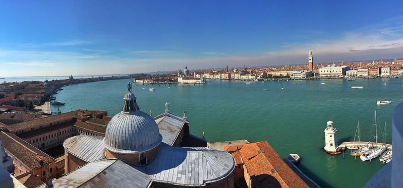 Foto panorámica de Venecia desde San Giorgio Maggiore