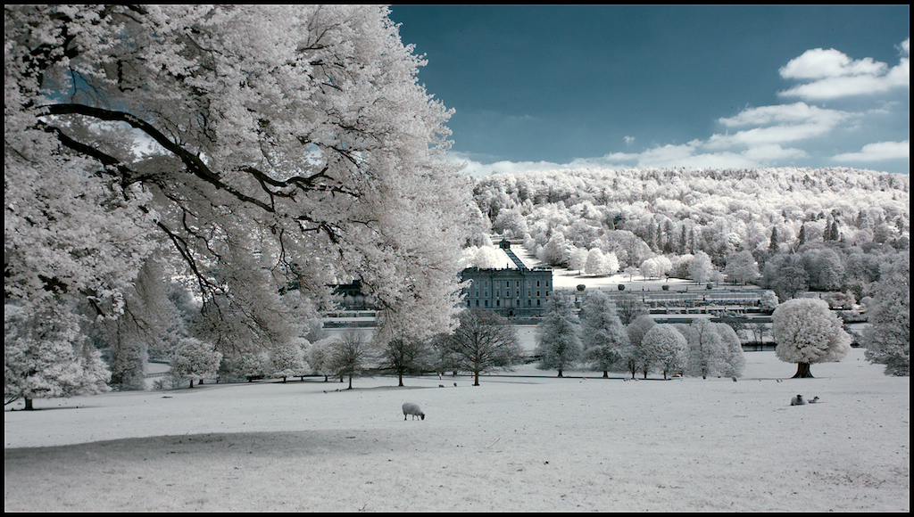 Chatsworth House And Trees Colour Infra Red Khromagery A