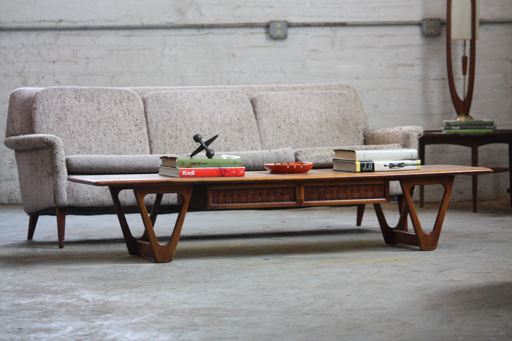 Fresh Lane Perception Mid Century Modern Long Coffee Table Flickr