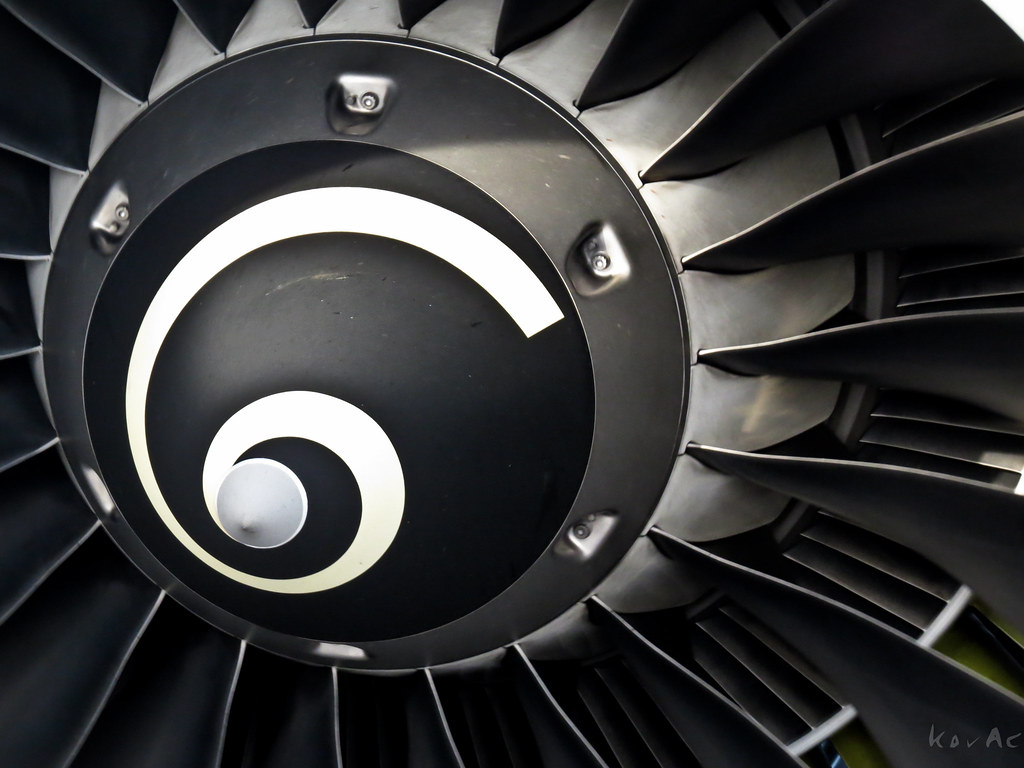 Airbus A 319 Fans High Bypass Turbofan Engine Kov A C