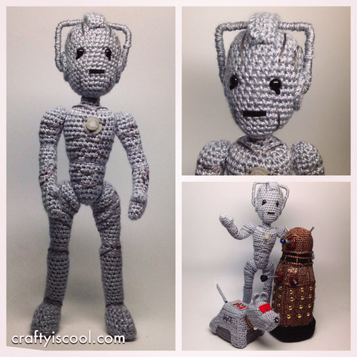 Doctor Who Crochet Amigurumi from CraftyIsCool - Cyber-Man