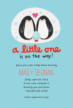 Penguin Family Animal Baby Shower Invitation | Oubly.com ...