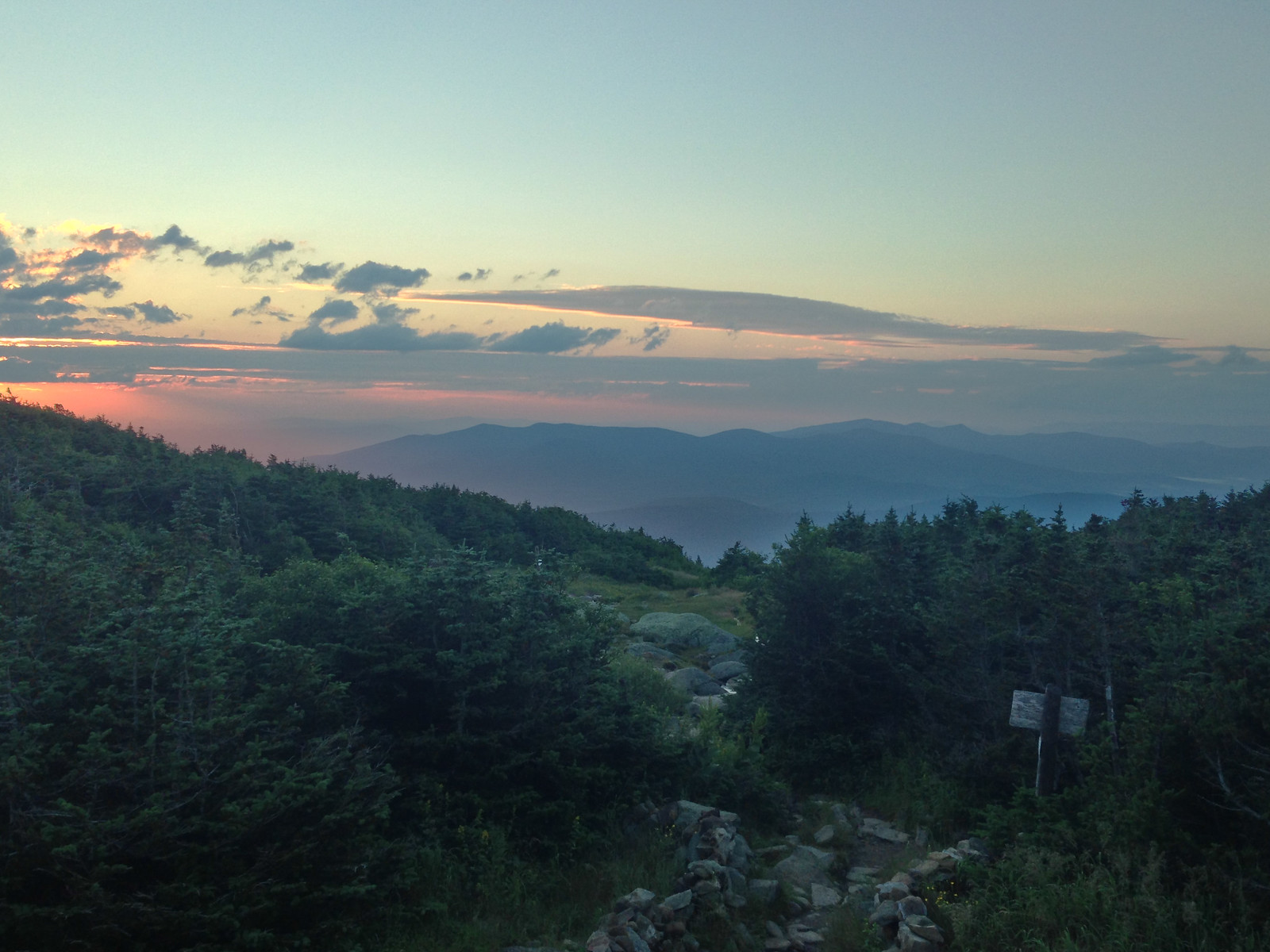 sunset from Madison Springs hut