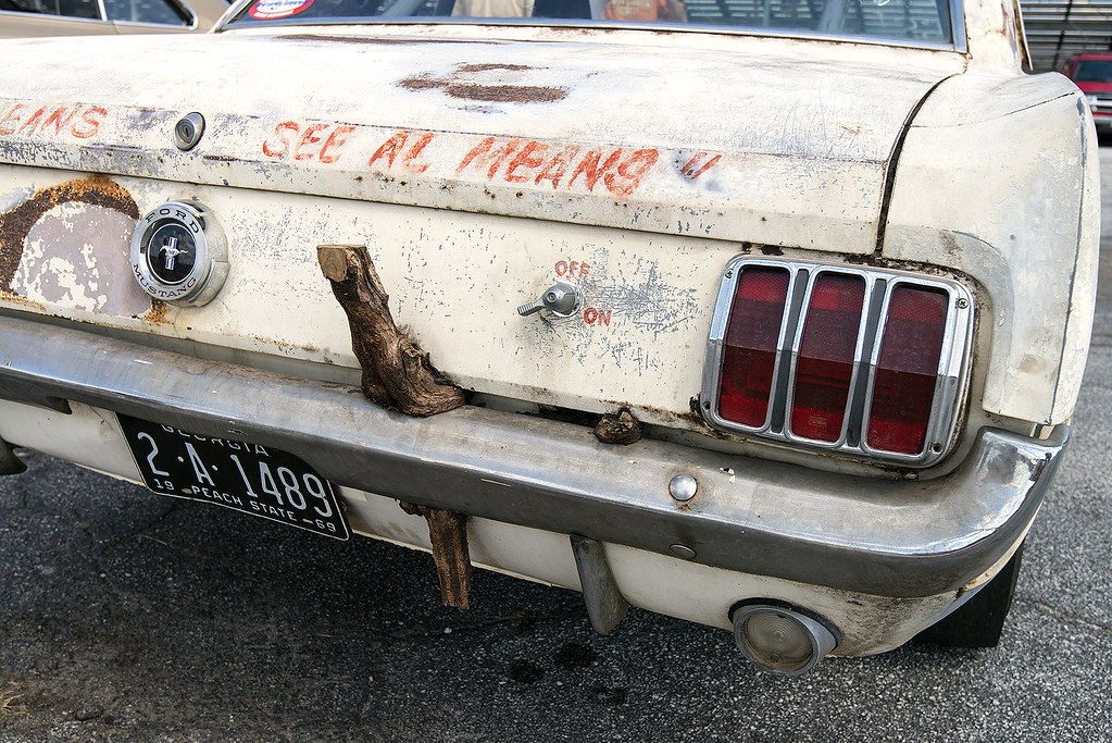 Bumper Car Images >> Al Means Super Stock Mustang rear bumper with wood | Flickr