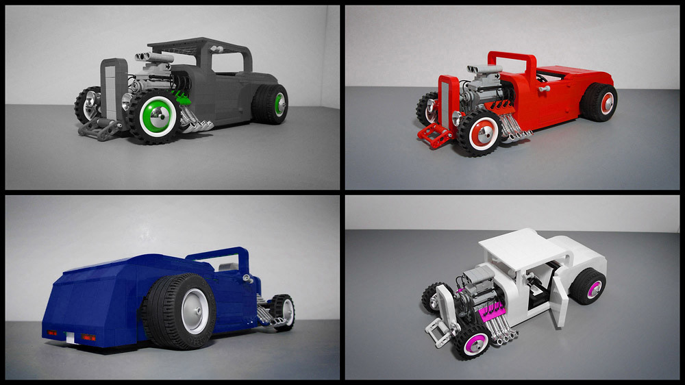 Custom Lego Hot Rod | I built several versions of this ...