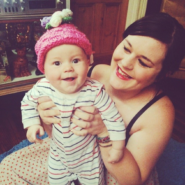A lovely blog reader sent me this cute tea cosy. I thought it made a good #babyjagoe hat.
