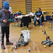 A RoboRave participant designs, builds, and tests a robots at Northern New Mexico College in Española.