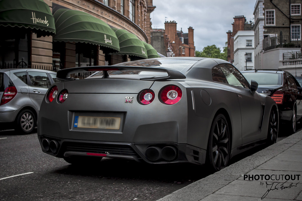 Another Angle Of The Matte Grey Gtr R35 Photocutout Flickr