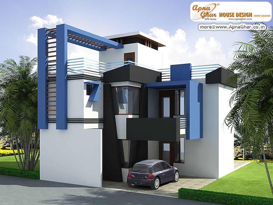 Duplex Apartment Elevation Design Modern duplex house exterior