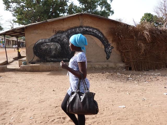 Aldea pintada de Gambia