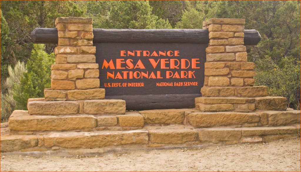 Mesa Verde National Park Entrance Sign (CO) August 2013 ...