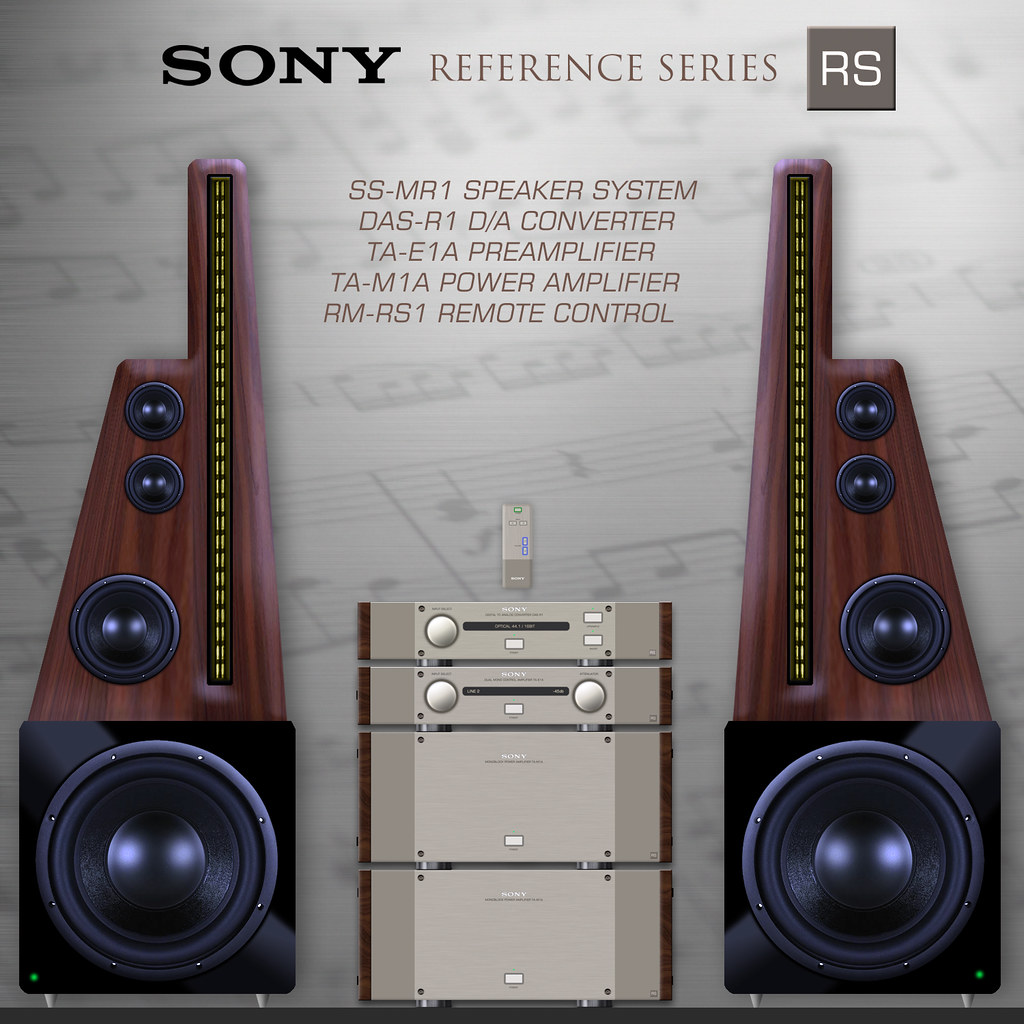 Sony Rs Ss Mr1 Speaker System Concept Sony Reference