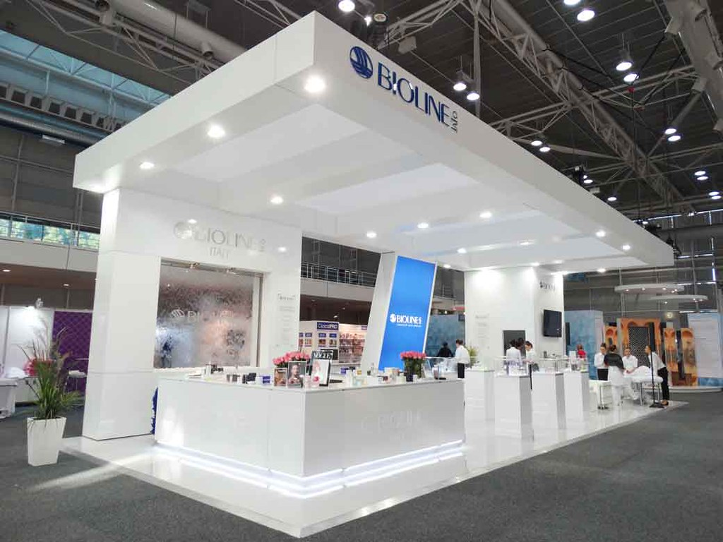 Beauty Expo Stands : Bioline custom exhibition stand at the spa beauty expo