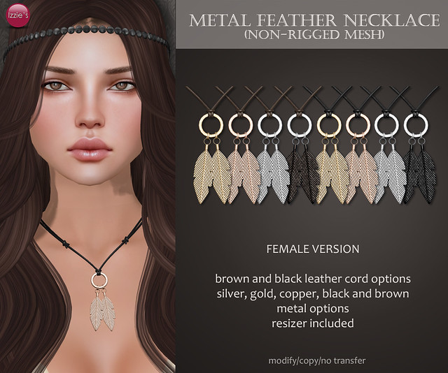 Metal Feather Necklace (for Uber)