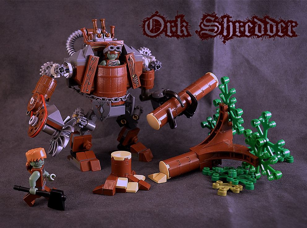 Ork Shredder Built By Goblins And Driven By Orks The