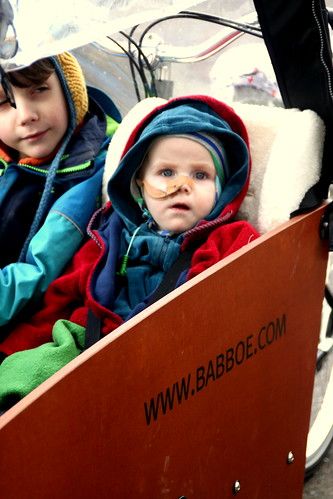 our new babboe cargo bike.