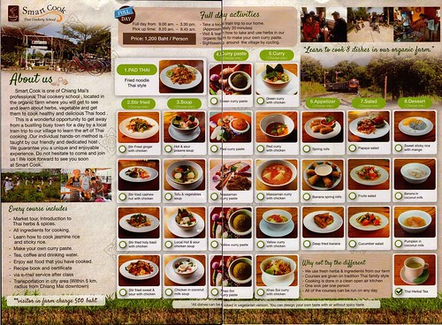 Brochure Smart Cook Thai Cookery School Chiang Mai Thailand 2