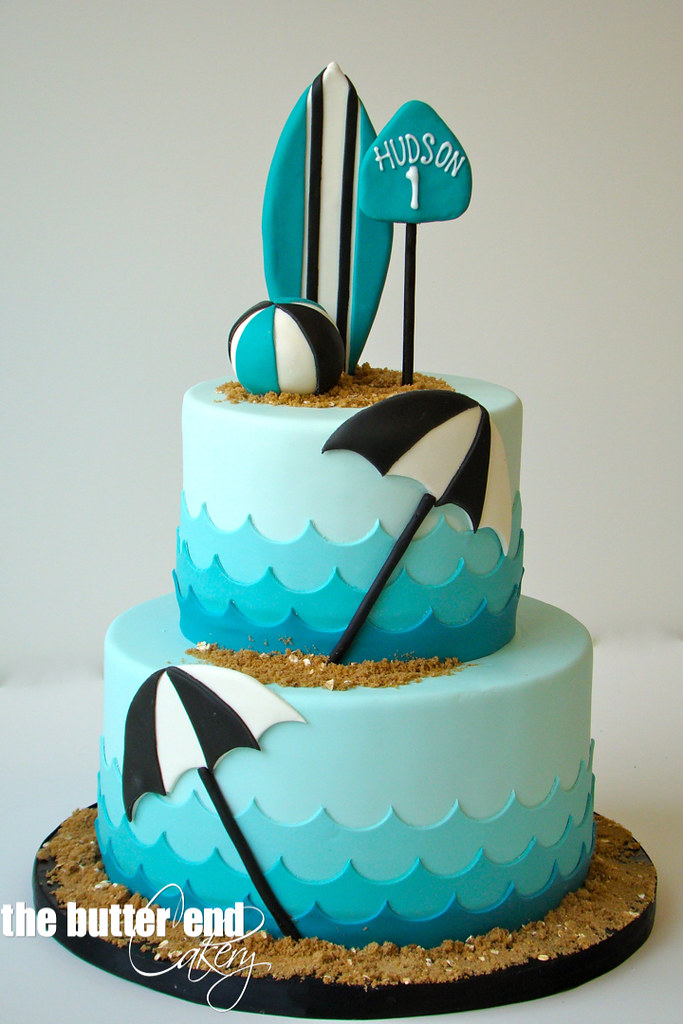 Easy Surfboard Birthday Cake