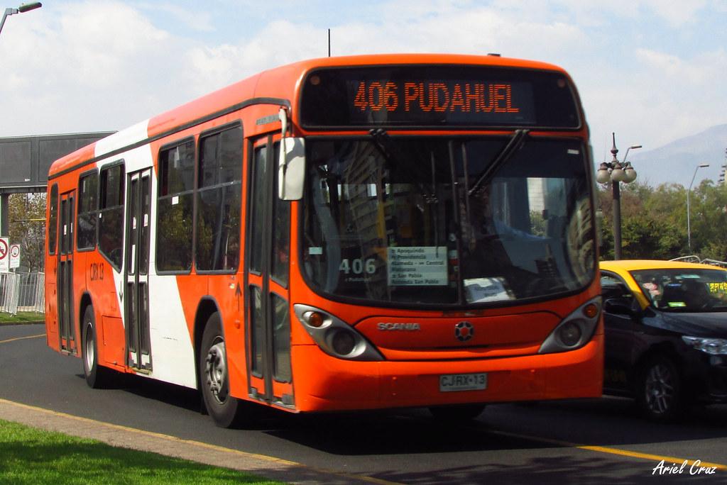 transantiago bus 406 express de santiago uno marcopo
