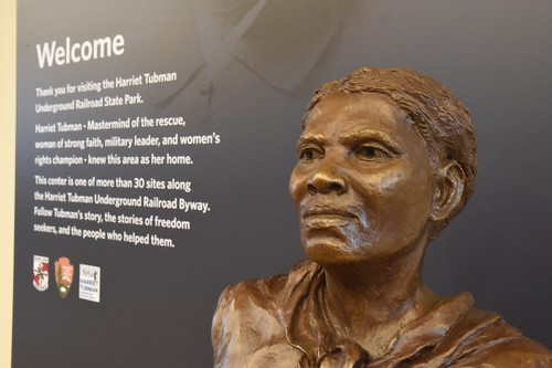 Photo of Harriet Tubman bust at Harriet Tubman Underground Railroad State Park and Visitors Center