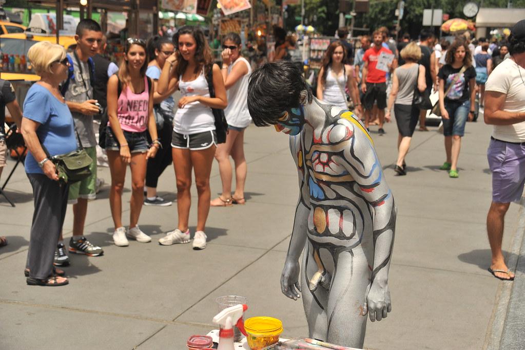 BODY PAINTING IN MANHATTAN 2013 / Body Art by Andy Golub