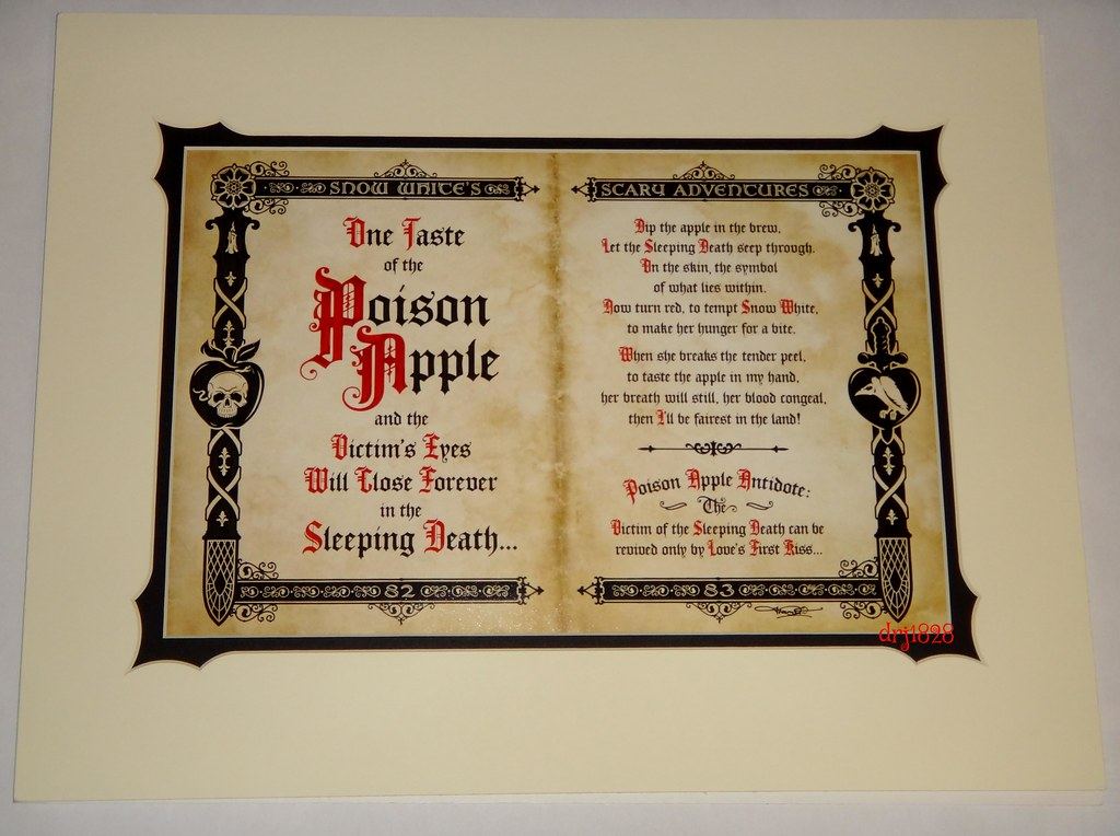Snow White The Poison Apple Deluxe Print By Jeremy Ful