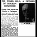17th January 1936 - Death of Sir James Hill