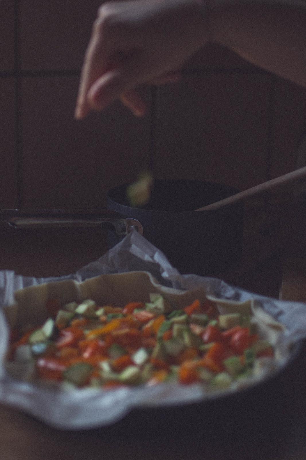 Cheese + Vegetables Tart Recipe