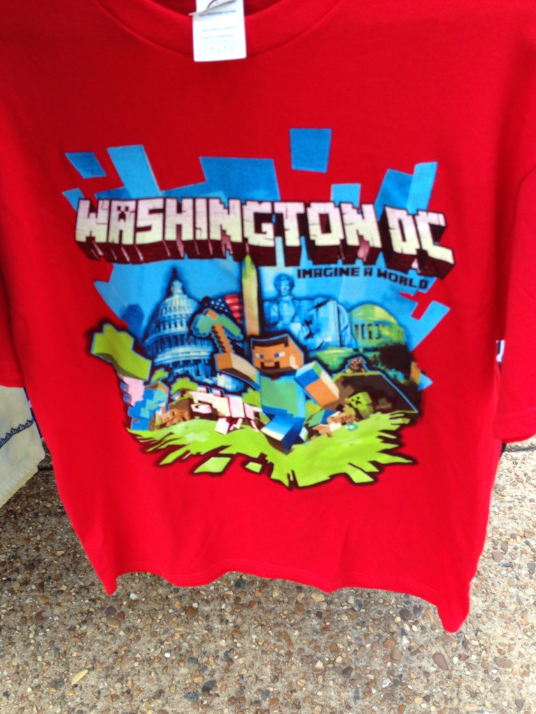 Minecraft Washington DC Souvenir Shirt Brownpau Flickr