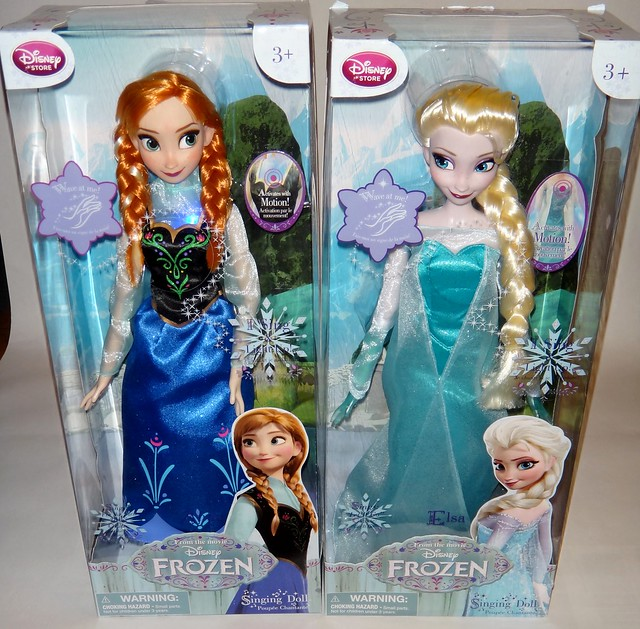 Singing Anna And Elsa 16 Dolls Frozen Disney Store P