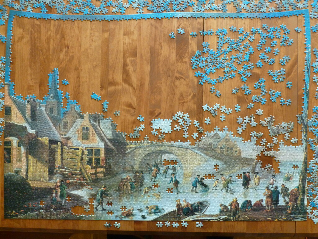 3000 piece puzzle winter amusements by cornelis kuipers flickr. Black Bedroom Furniture Sets. Home Design Ideas