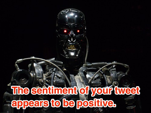 Terminator attempting sentiment analysis