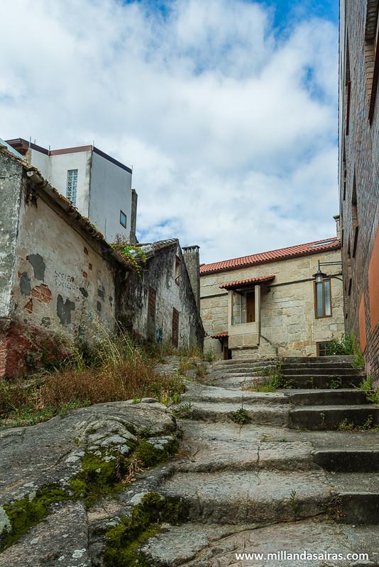 Alto donde se construyeron las primeras casas en Cangas
