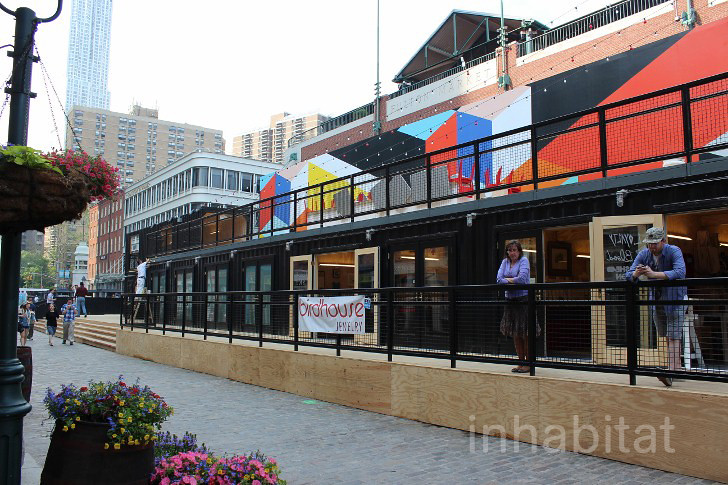 South Street Seaport Shipping Container Beer Garden And Sh