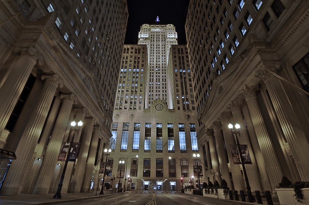 Cbot At Night Hdr The Chicago Board Of Trade 141 W