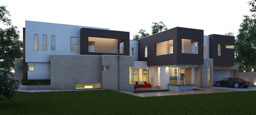 Modern house design by boyd design perth architecture sq for Modern cube house plans