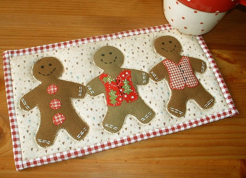 Gingerbread Mug Rug Project