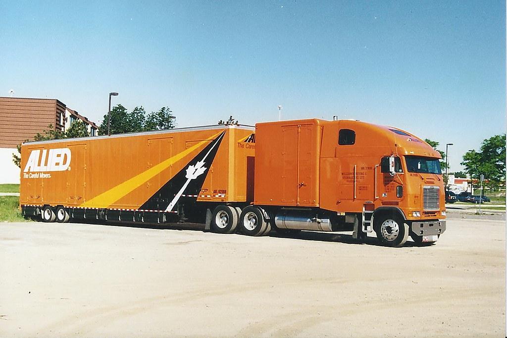 Allied Van Lines Long Frame Freightliner Cabover Truck Wit