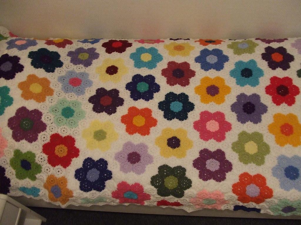 Hexagon Blumen Decke Lisa Flickr