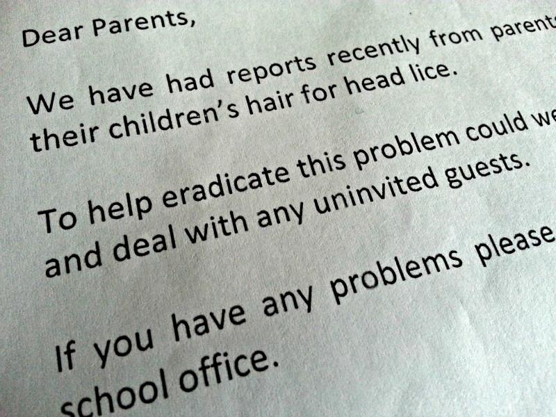 School Lice Letter
